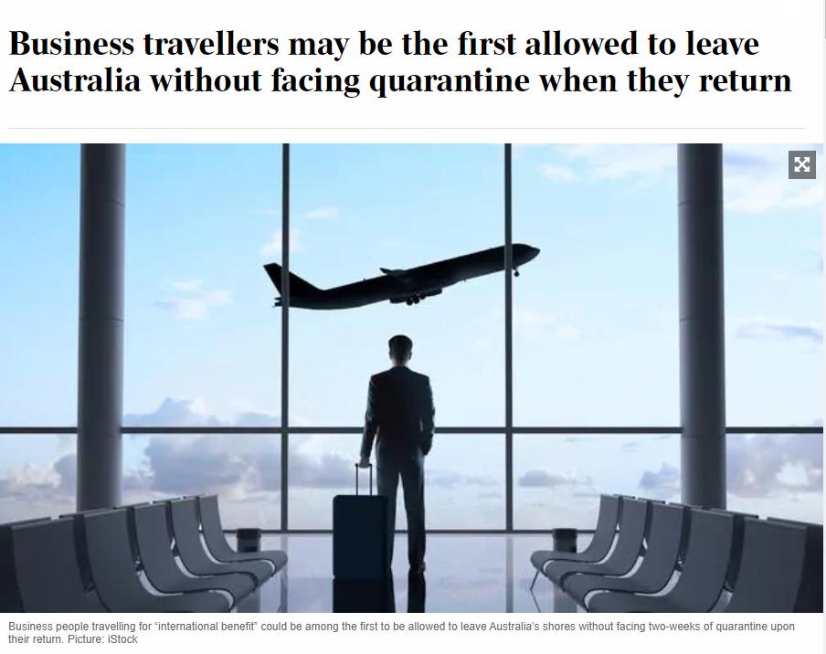 留学生返澳隔离费用学校出!澳洲卫生部已辟谣商务游客隔离时间缩短一半!